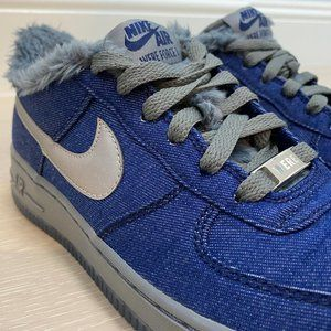 NEW 👟 Werewolf Nike Air Force 1 QS Blue Denim